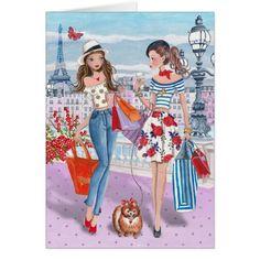 Comprar no cartão de aniversário das meninas | de