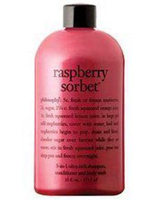 philosophy raspberry sorbet ultra rich 3-in-1 shampoo, shower gel, and bubble bath