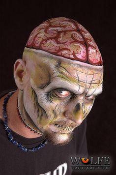 Wolfe Face Art & FX creates art using our unique hydrocolor make-up Face Paint Makeup, Makeup Brush Set, Makeup Art, Sfx Makeup, Horror Makeup, Zombie Makeup, Halloween Make Up, Halloween Face, Facepaint Halloween