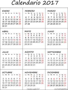 Calendario 2017 con las vacaciones gratis                                                                                                                                                     Más