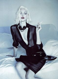 Sasha Pivovarova photographed by Mert & Marcus for Vogue Paris October 2011.