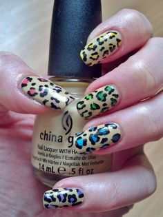 The C was sold to pay for polish 💅 Leopard Print Nails, Different Colors, Polish, Rainbow, Beauty, Enamel, Varnishes, Rain Bow, Nail Polish