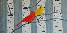 "Saatchi Art Artist Liza Wheeler; Painting, ""Aspen Winter Overture - winter forest landscape with birds"" #art"