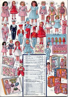 53 p29 dolls quintuplets wardrobes suitcases sailor harlequin etc | Flickr - Photo Sharing!