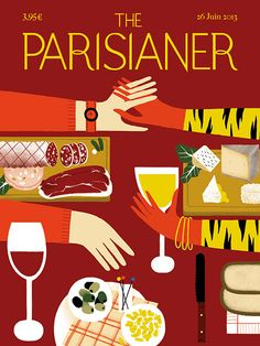 The Parisianer (by Amélie Falière), the French version of The New Yorker in 100 front covers. Exhbition on December at the Cité internationale des arts, Paris. Via Mzelle-Fraise. The New Yorker, New Yorker Covers, New Yorker France, Magazine Illustration, Illustration Art, Fake Magazine Covers, Image Republic, I Love Paris, Coffee And Books
