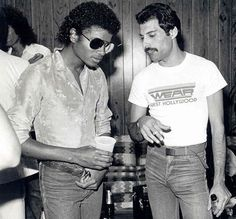 Mj and Freddy Mercury... too much awesomeness