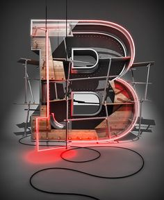 Create a #3D #Typographic #Illustration, #Cinema4D, #Graphic #Design, #Photoshop, #Tutorial, #Typography