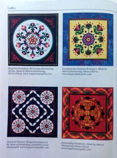 SMALL WORLD STORY! I get a call here in the United States from an editor in England who is putting together a Collectors' Series booklet on Scandinavian quilts for the Australian magazine Down Under Quilts. Travel over to issue 164 of Down Under Quilts to explore this Scandinavian collection -- including many from Happy Stash Quilts.