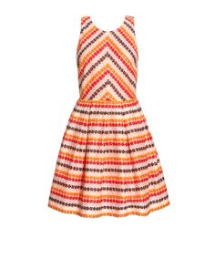 Rainbow print sleeveless dress