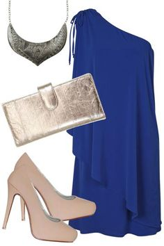 birdsnest Outfit of the Day for Tuesday January 8, 2013.  Step out in stunning style at your next event with silver and natural accessories that make the colour of the dress all the more stunning. Perfect for a day at the races or your next awards ceremony!