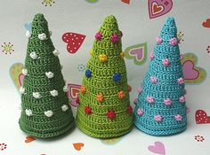 Color your Christmas!   Funny crocheted christmas trees  made by Elealinda-Design