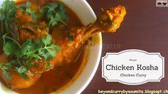 Bengali Chicken Kosha/ Bengali Chicken Curry with Potatoes/ Murgir Jhol/ How to make Kosha Mangsho Potato Recipes, Chicken Recipes, Sunday Recipes, Chicken Curry, Thai Red Curry, Potatoes, Type, Ethnic Recipes, How To Make