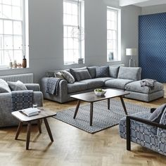 Lovely Living Room: Grey Corner Sofa With Lots Of Cushions And Throws. Perfect For  Cosy Part 31
