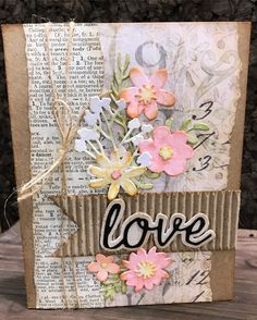 cards made with Tim holtz Funky florals dies Tim Holtz, Cute Cards, Diy Cards, Karten Diy, Card Making Inspiration, Card Tags, Paper Cards, Flower Cards, Creative Cards