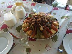 Couscous con carne y siete verduras