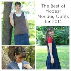 The Best of Modest Monday Outfits for 2013! Plus our weekly link up! | themodestmomblog.com