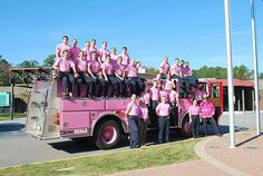Outfitted in pink, Fire Fighters union members raise money and awareness of breast cancer. http://www.aflcio.org/Features/In-Our-Communities/Firefighters-Give-Back-to-Their-Communities-On-and-Off-the-Job