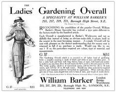 Ladies Gardening Overall.