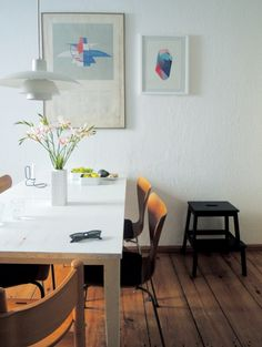 dining area with arne jacobsen, poul henningsen, lup and ditte gjode