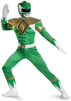 PartyBell.com - #PowerRangers #GreenRanger Classic Muscle Adult Costume