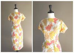 Lovely Yellow & Pink  Floral Vintage 1950s by TheMermaidTattoo