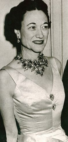 The Duchess of Windsor, wearing a Tony Duquette Necklace