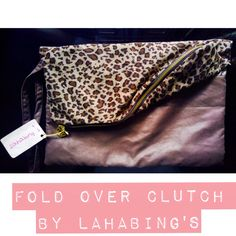 Fold Over Clutch by Lahabing's