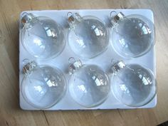 Clear Glass Christmas Ornament Ideas
