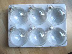 Clear Glass Christmas Ornament Ideas