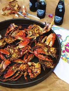 This came up on my feed...its the old Sartin's recipe!! I can still remember sitting at the paper covered tables!  Sabine Pass Barbecued Crabs from Robb Walsh's Texas Eats