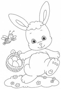 Bunny Coloring Pages, Easter Colouring, Cool Coloring Pages, Printable Coloring Pages, Coloring Pages For Kids, Coloring Sheets, Coloring Books, Easter Art, Easter Crafts