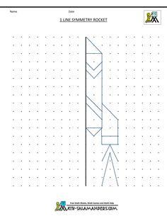 grade geometry 1 line symmetry rocket Symmetry Worksheets, Symmetry Activities, Kids Math Worksheets, Rocket Drawing, Cc Drawing, 4th Grade Classroom, 3rd Grade Math, Third Grade, Learning Sites