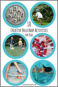 Hula hoop games and activities for kids are super motivating and fun ways to promote gross motor skills like coordination, endurance, balance, strength, and more.