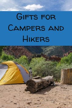 Here are the best hiking and camping gifts for those with a limited budget. Clever ideas for hard to shop for camper and hiker friends and family. Gifts For Campers, Camping Gifts, Camping And Hiking, Camping Gear, Camping Hacks, Hiking Gear, Family Camping, Hiking Gifts, Camping Items