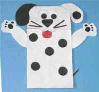 Dalmation puppet