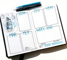 Creative Inspiration: Bullet Journal Weekly Spread Ideas. Tea for Two bujo weekly. Planner meets art.
