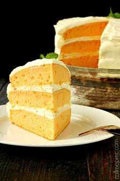 Orange Cake with Cool Whip Pudding Frosting