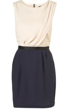 Topshop  Colour block shift dress, £46