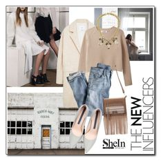 """""""Shein"""" by nastya-d ❤ liked on Polyvore featuring mode, MANGO et J.Crew"""