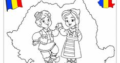 Romania coloring page Projects For Kids, Diy For Kids, Crafts For Kids, Art Projects, Fall Coloring Pages, Coloring Pages For Kids, History Of Romania, Medan, Multicultural Activities