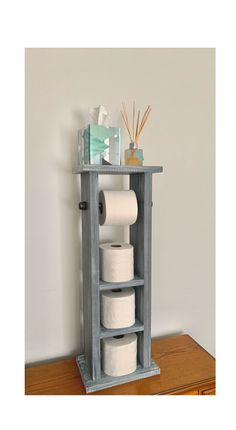 Toilet Paper Holder With Storage White Washed, Pipe Toilet Paper Holder, Bathroom Storage Industrial Modern Toilet Paper Holder With Storage Modern Shelving, Rustic Shelves, Modern Toilet Paper Holders, Wood Bathroom Cabinets, Modern Industrial Decor, Industrial Bathroom, Toilet Paper Storage, Galvanized Pipe, Small Space Interior Design