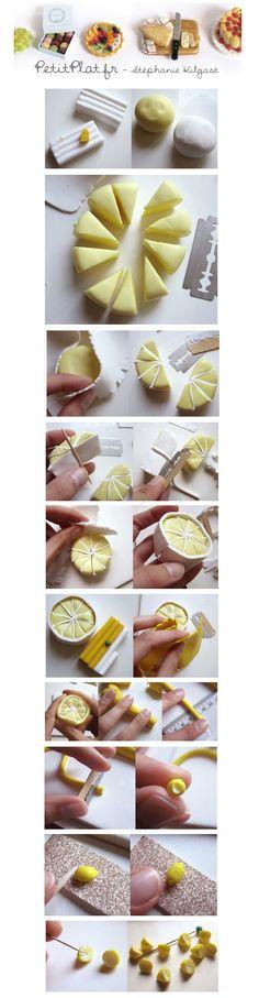 Créer des petits citrons en pâte polymère
