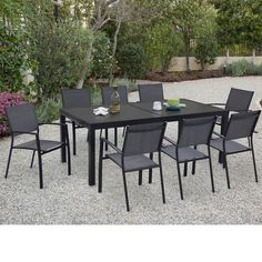Cambridge Nova Aluminum 9 Piece Rectangular Patio Dining Set   Thereu0027s Just  Something Way More Fun About Taking Your Dinner Outside When Thereu0027s A  Cambridge ...
