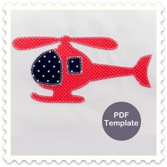 Items similar to Applique Template - Helicopter on Etsy