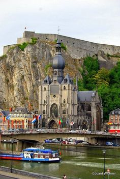 Belgium, Dinant Dinant, Namur, BE. from friendsofwater: I'd like to see that! Places Around The World, The Places Youll Go, Places To See, Around The Worlds, Beautiful Castles, Beautiful World, Luxembourg, Wonderful Places, Beautiful Places