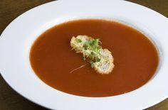 Sopa de creme de tomates, maçã e curry light