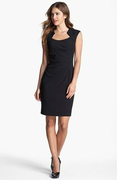 Cap Sleeve Sheath Dress $118.00. Saw this at Macys today and loved it.