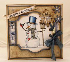 Vintage Snowman card