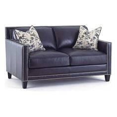 Hendrix Loveseat with 2 Accent Pillows in Brooklyn Navy Blue | Nebraska Furniture Mart