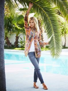 Longbluse, Shirttop, Jeans, Dianetten